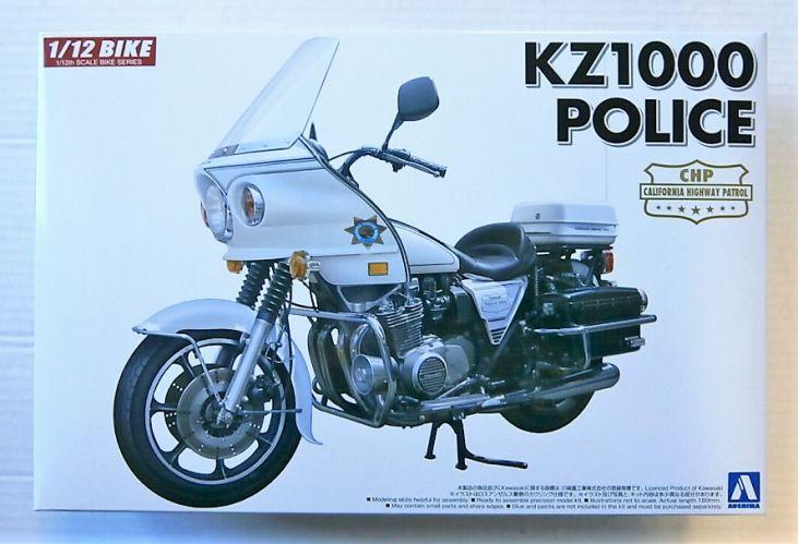 AOSHIMA 1/12 05459 KAWASAKI KZ1000 POLICE BIKE CHP