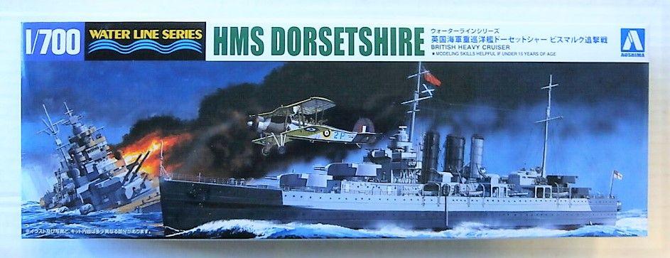 AOSHIMA 1/700 05268 HMS DORSETSHIRE BRITISH HEAVY CRUISER