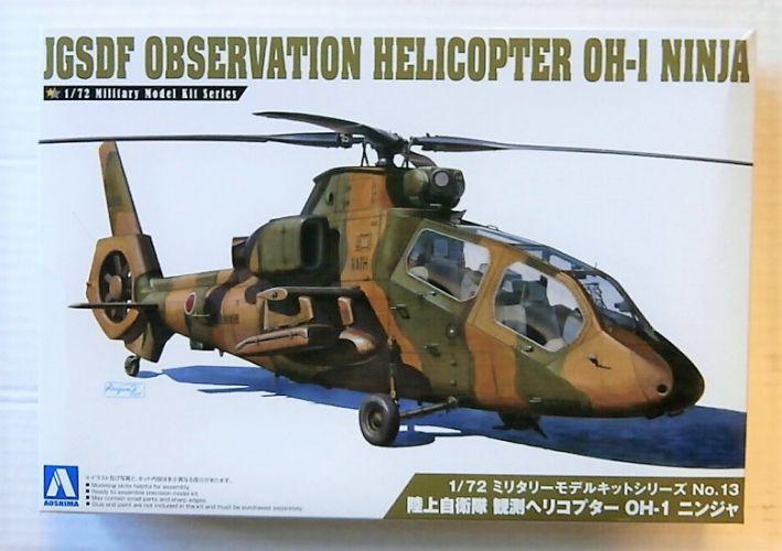 AOSHIMA 1/72 01434 JGSDF OBSERVATION HELICOPTER OH-I NINJA