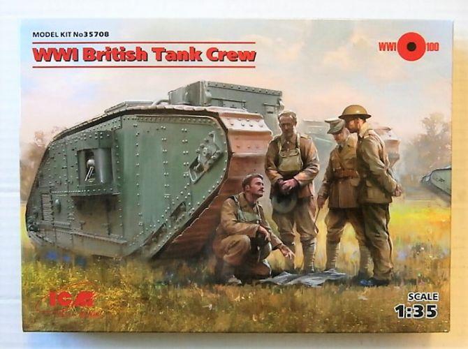 ICM 1/35 35708 WWI BRITISH TANK CREW