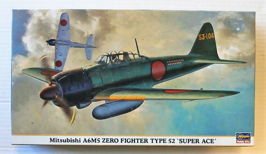 HASEGAWA 1/48 09782 MITSUBISHI A6M5 ZERO FIGHTER TYPE 52 SUPER ACE
