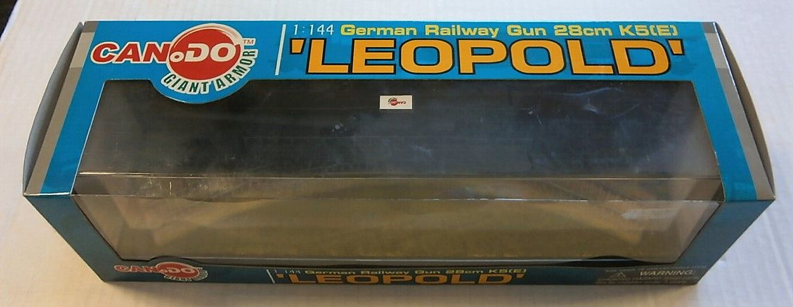 DRAGON 1/144 20025 GERMAN RAILWAY GUN 28cm K5 E  LEOPOLD