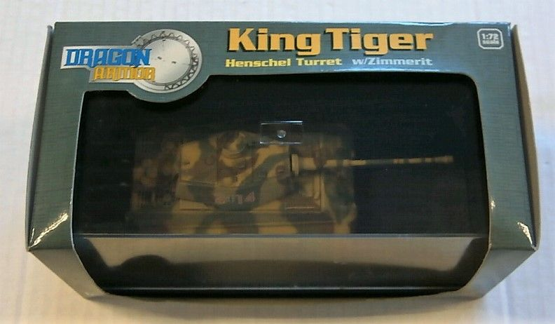 DRAGON 1/72 60048 KING TIGER HENSCHEL TURRET W/ZIMMERIT