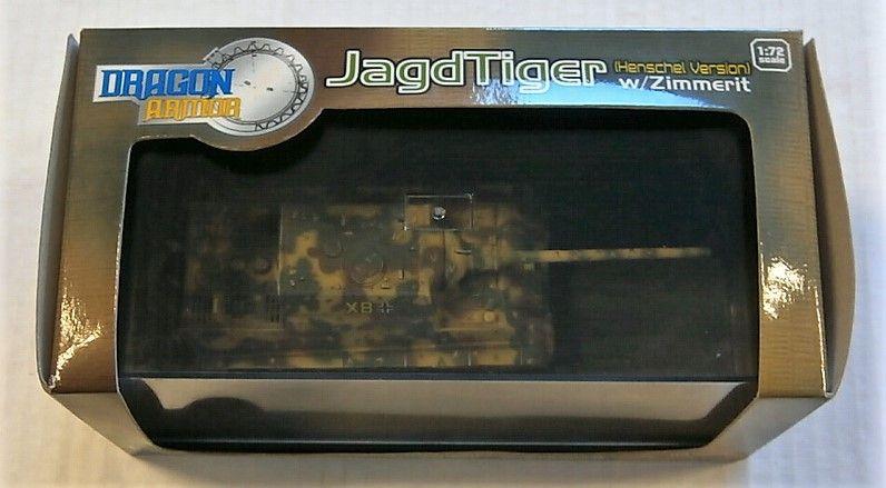 DRAGON 1/72 60110 JAGDTIGER HENSCHEL VERSION W/ZIMMERIT