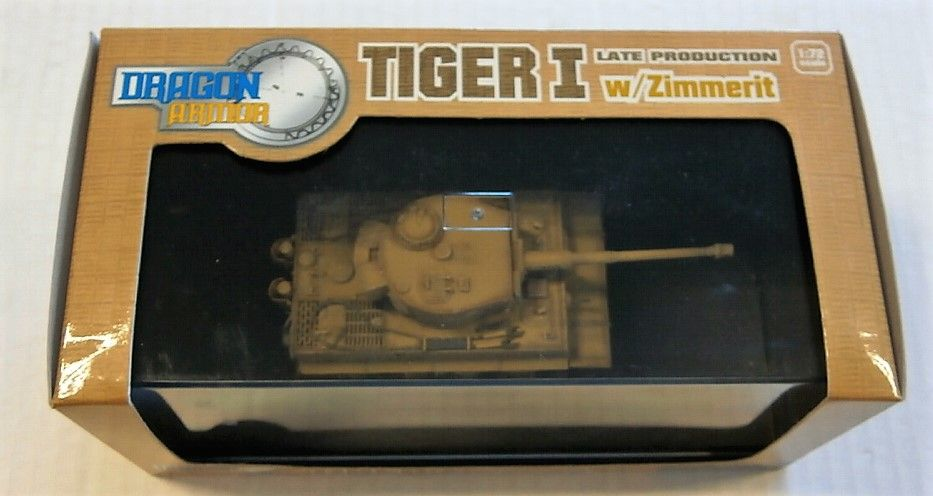 DRAGON 1/72 60022 TIGER I LATE PRODUCTION W/ZIMMERIT