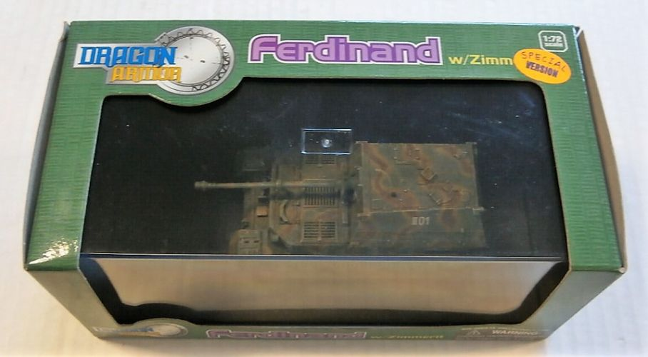 DRAGON 1/72 60094 FERDINAND EASTERN FRONT 1943 W/ZIMMERIT