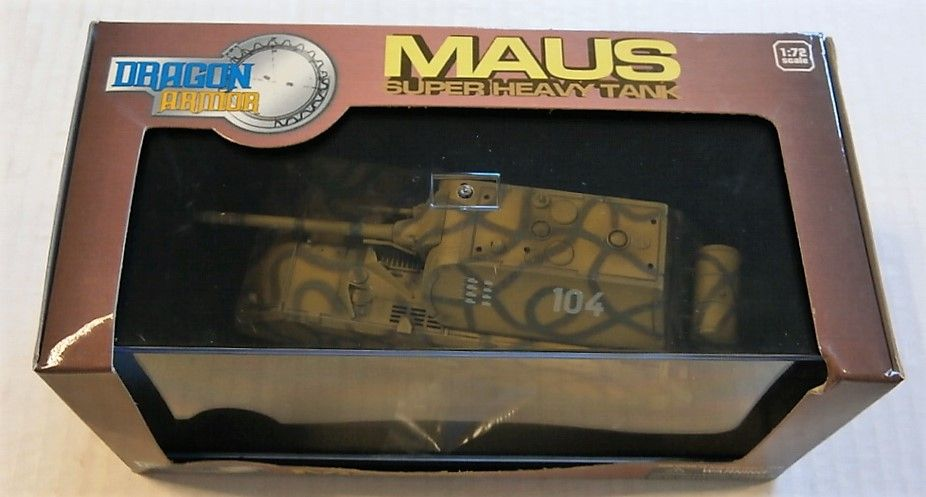 DRAGON 1/72 60137 MAUS SUPER HEAVY TANK BERLIN 1945