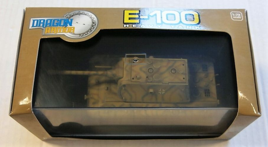 DRAGON 1/72 60138 E-100 HEAVY TANK BERLIN 1945