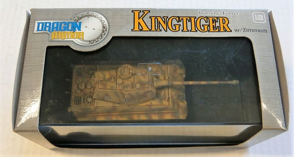 DRAGON 1/72 60106 KINGTIGER PORSCHE TURRET W/ZIMMERIT sPzAbT 501 NORMANDY 1944