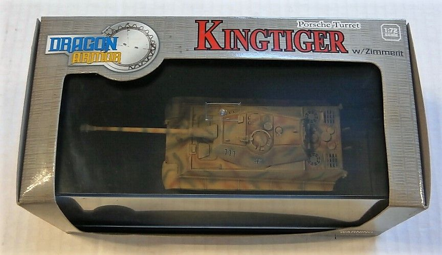 DRAGON 1/72 60105 KINGTIGER PORSCHE TURRET W/ZIMMERIT OHRDRUF TRAINING 1944