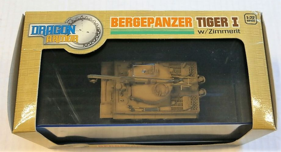 DRAGON 1/72 60039 BERGEPANZER TIGER I W/ZIMMERIT ITALY 1944