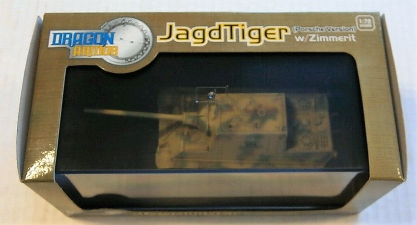 DRAGON 1/72 60111 JAGDTIGER PORSCHE VERSION W/ZIMMERIT ALSACE 1945