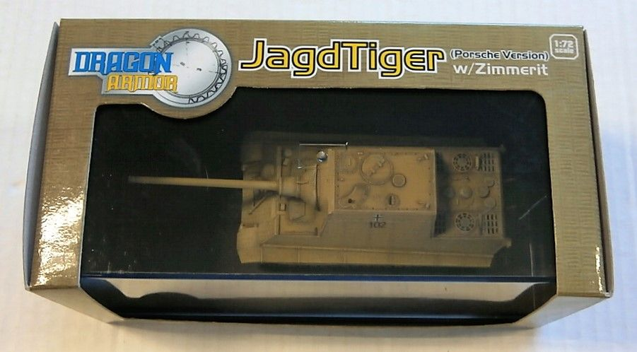 DRAGON 1/72 60112 JAGDTIGER PORSCHE VERSION W/ZIMMERIT GERMANY 1945
