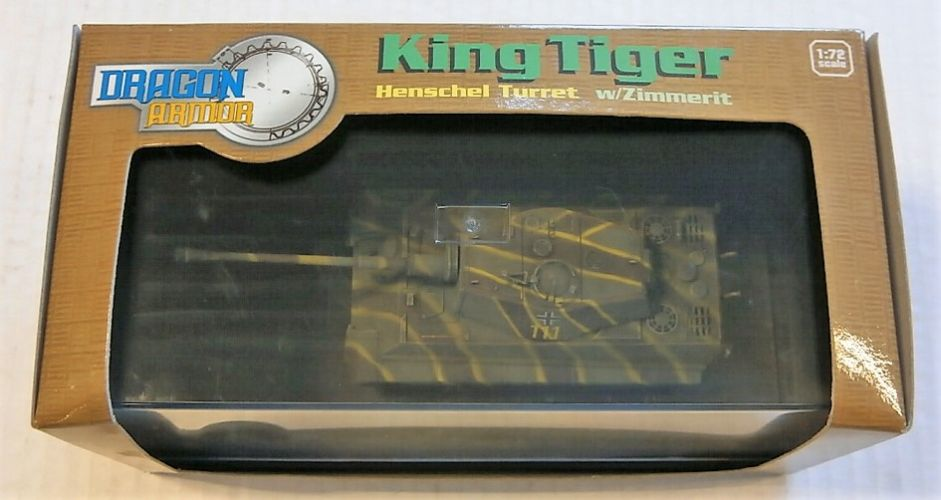 DRAGON 1/72 60049 KING TIGER HENSCHEL TURRET W/ZIMMERIT FRANCE 1944