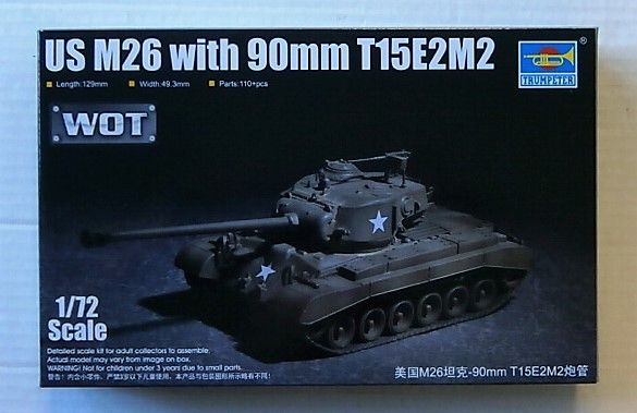 TRUMPETER 1/72 07170 US M26 WITH 90mm T15E2M2