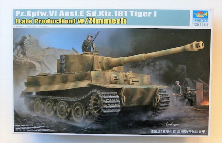 TRUMPETER 1/35 09540 Pz.Kpfw.VI Ausf.E Sd.Kfz.181 TIGER I LATE W/ZIMMERIT