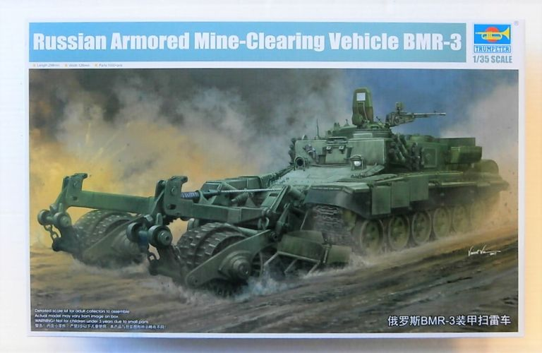 TRUMPETER 1/35 09552 RUSSIAN ARMOURED MINE-CLEARING VEHICLE BMR-3