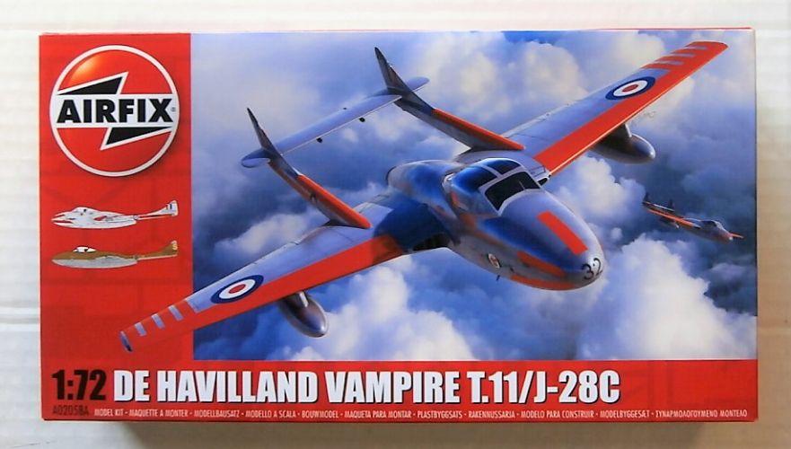 AIRFIX 1/72 02058A DE HAVILLAND VAMPIRE T.11/J-28C