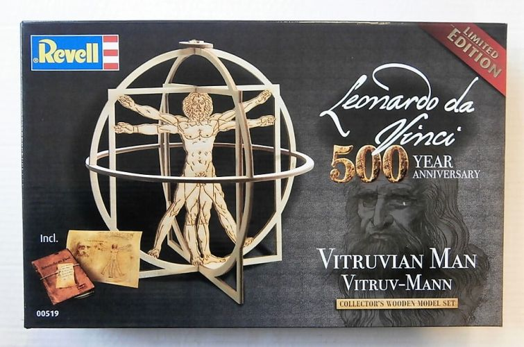 REVELL 1/16 00519 LEONARDO DA VINCI 500 YEAR ANNIVERSARY VITRUVIAN MAN