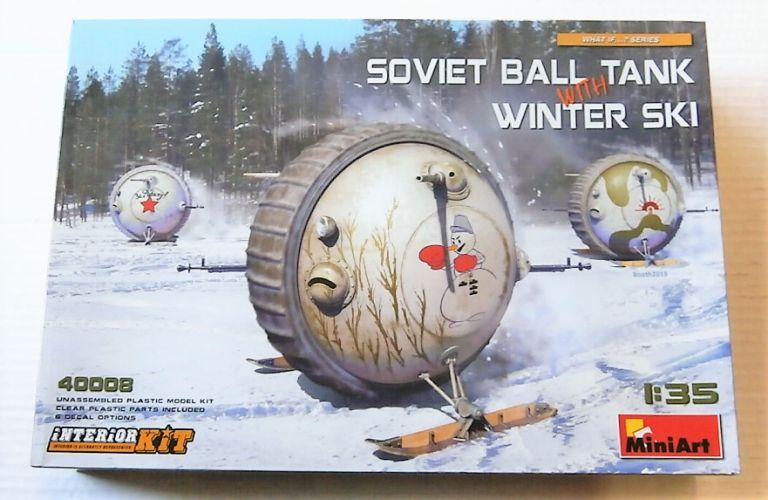 MINIART 1/35 40008 SOVIET BALL TANK WITH WINTER SKI