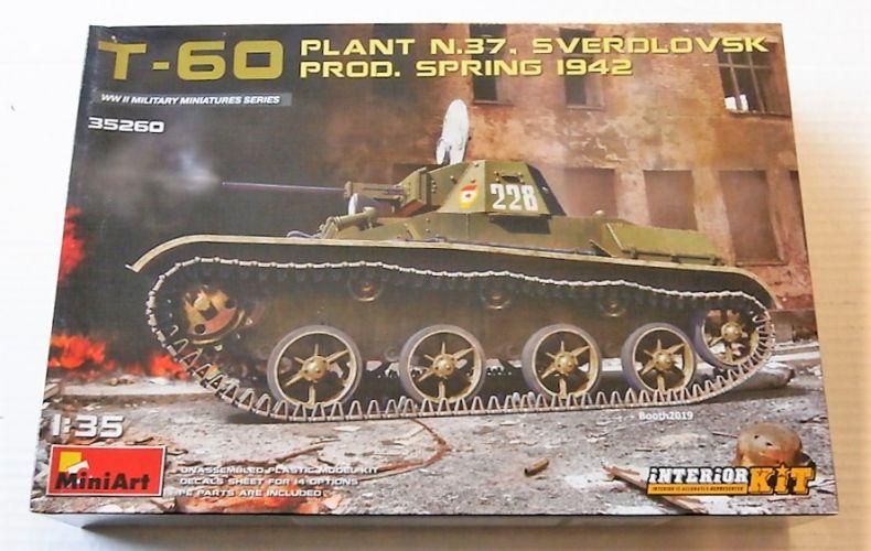 MINIART 1/35 35260 T-60 PLANT N.37 SVERDLOVSK PROD. SPRING 1942