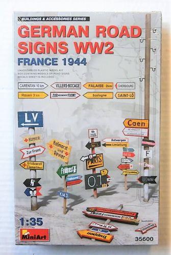 MINIART 1/35 35600 GERMAN ROAD SIGNS WW2 FRANCE 1944