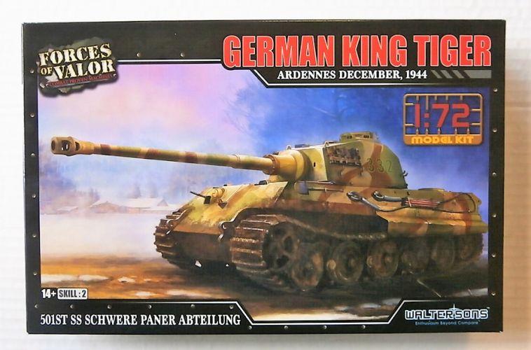 FORCES OF VALOR 1/72 873002A GERMAN KING TIGER ARDENNES DECEMBER 1944