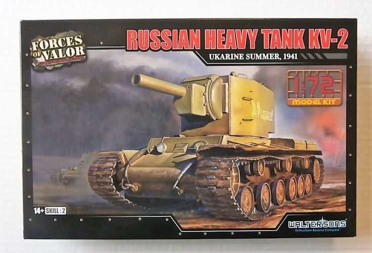 FORCES OF VALOR 1/72 873003A RUSSIAN HEAVY TANK KV-2 UKRAINE SUMMER 1941