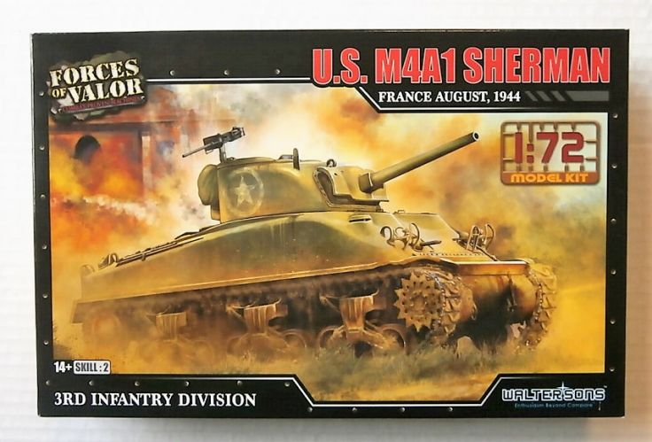 FORCES OF VALOR 1/72 873004A U.S. M4A1 SHERMAN FRANCE AUGUST 1944