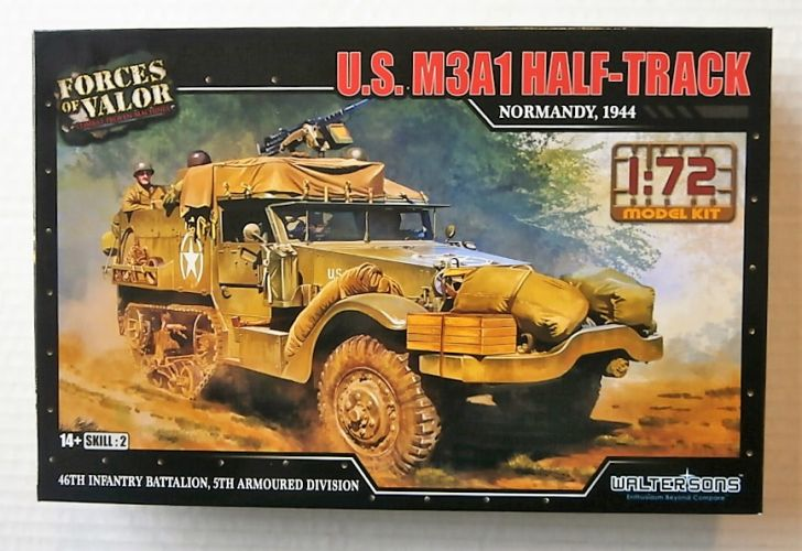 FORCES OF VALOR 1/72 873007A U.S. M3A1 HALF-TRACK NORMANDY 1944