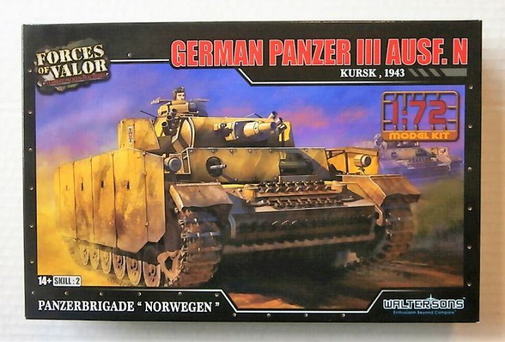 FORCES OF VALOR 1/72 873008A GERMAN PANZER III AUSF.M KURSK 1943