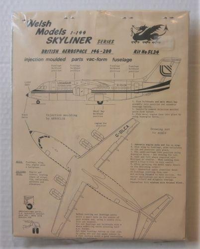WELSH MODELS 1/144 SL34 BRITISH AEROSPACE 146-200