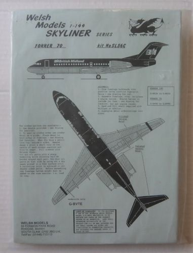 WELSH MODELS 1/144 SL56C FOKKER 70