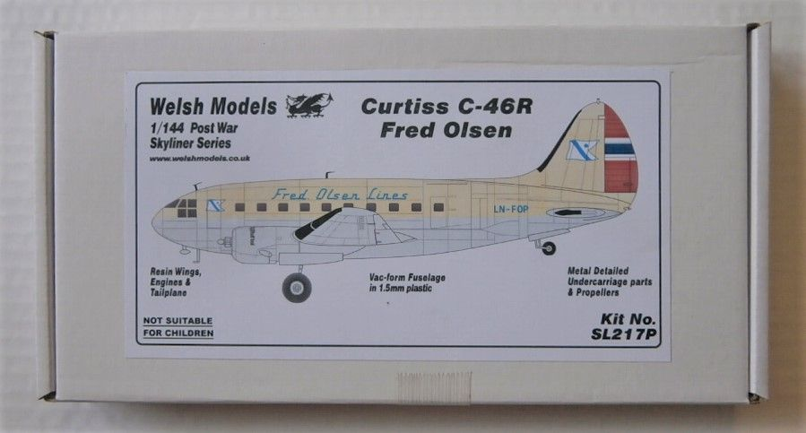 WELSH MODELS 1/144 SL217P CURTISS C-46R FRED OLSEN