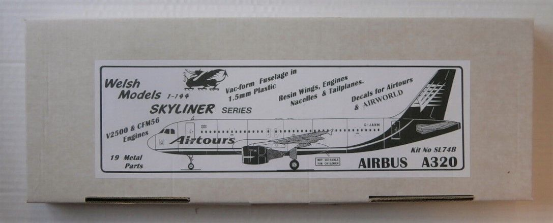 WELSH MODELS 1/144 SL74B AIRBUS A320 AIRTOURS