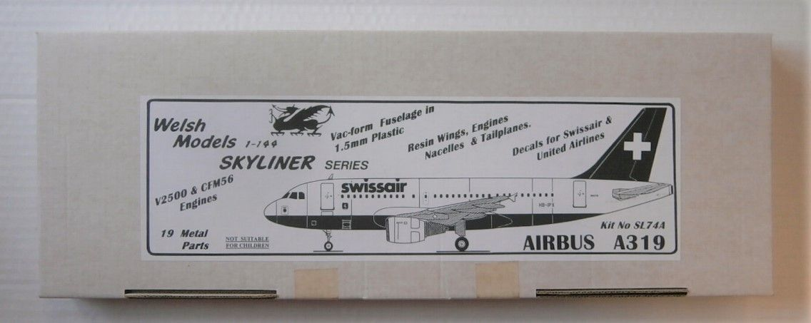WELSH MODELS 1/144 SL74A AIRBUS A319 SWISSAIR