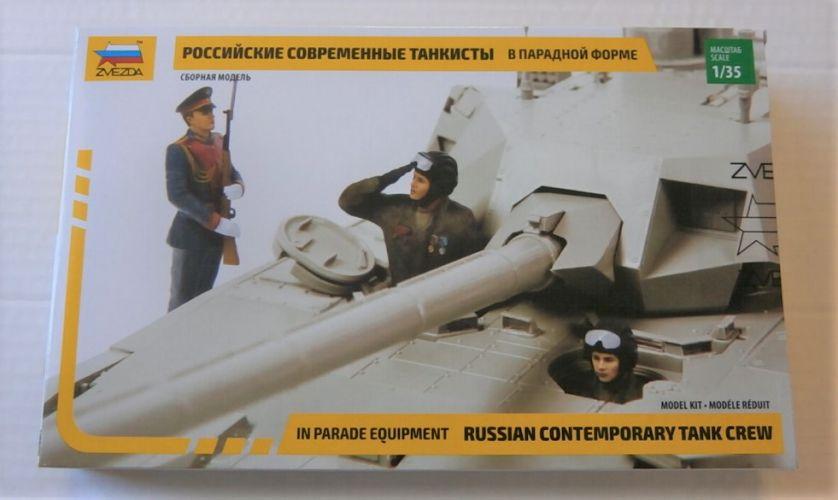 ZVEZDA 1/35 3685 RUSSIAN CONTEMPORARY TANK CREW