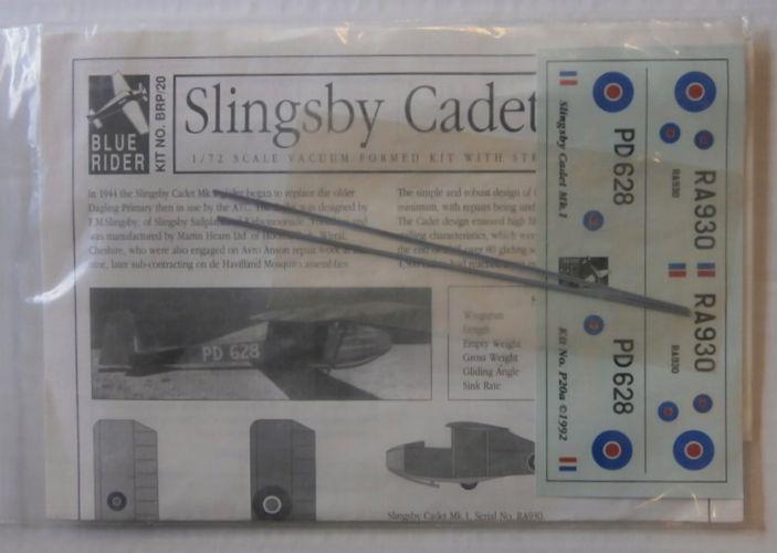 BLUE RIDER 1/72 20 SLINGSBY CADET MK.1