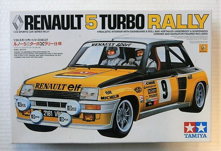 TAMIYA 1/24 24027 RENAULT 5 TURBO RALLY