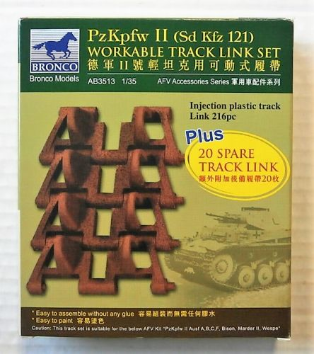 BRONCO 1/35 3513 PZ.KPFW II  SD.KFZ.121  WORKABLE TRACK LINK SET