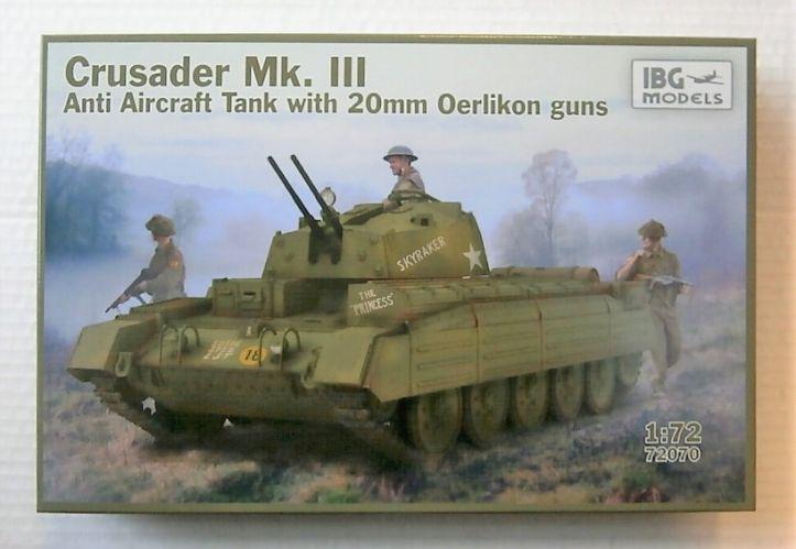 IBG MODELS 1/72 72070 CRUSADER MK.III ANTI AIRCRAFT TANK WITH 20MM OERLIKON GUNS