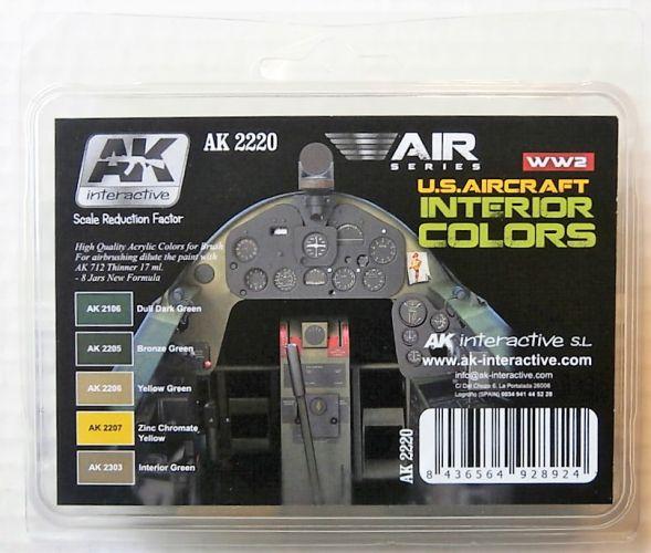 AK INTERACTIVE  AK2220 U.S. AIRCRAFT INTERIOR COLOURS