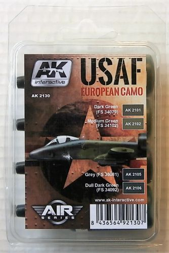 AK INTERACTIVE  AK2130 USAF EUROPEAN CAMO COLOURS