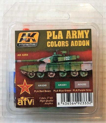 AK INTERACTIVE  AK4260 PLA ARMY COLOURS ADDON