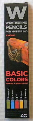 AK INTERACTIVE  10045 WEATHERING PENCILS SET - BASIC COLOURS