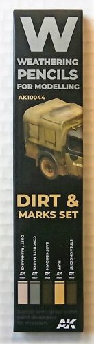 AK INTERACTIVE  10044 WEATHERING PENCILS SET - DIRT AND MARKS SET
