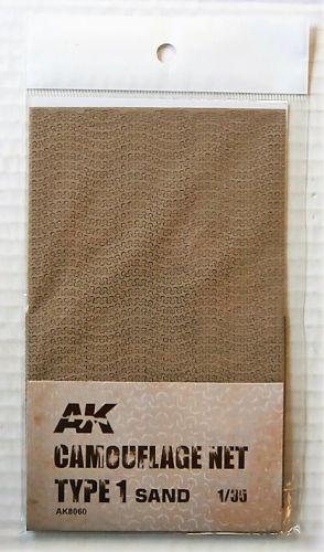 AK INTERACTIVE 1/35 8060 CAMOUFLAGE NET TYPE 1 SAND