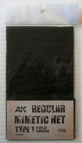 AK INTERACTIVE 1/35 8066 REGULAR MIMETIC NET TYPE 1 FIELD GREEN