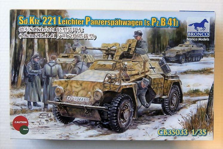 BRONCO 1/35 35033 Sd.Kfz.221 LEICHTER PANZERSPAHWAGEN  s.Pz.B.41