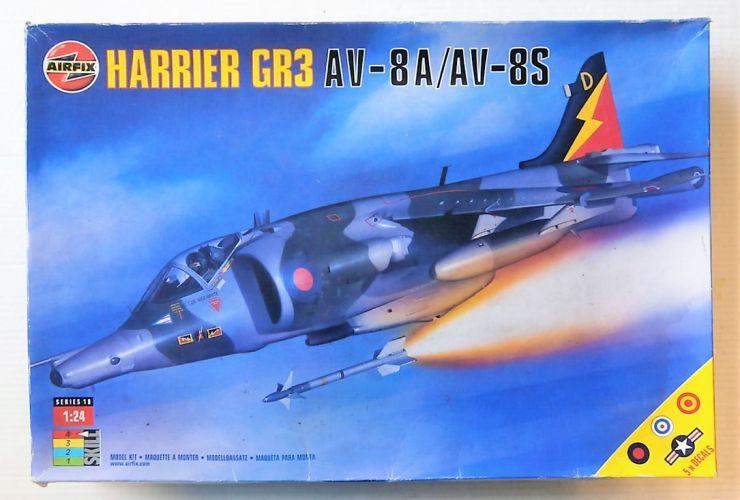AIRFIX 1/24 18003 HARRIER GR3 AV-8A/AV-8S  UK SALE ONLY